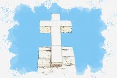 Christian Cross in Sintra immagini stock libere da diritti