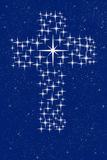Christian cross in stars Royalty Free Stock Photos