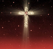Christian cross in stars royalty free stock images