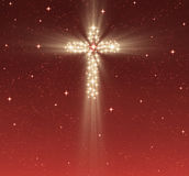 Christian cross in stars Stock Photos