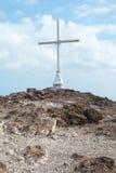 Christian Cross sulla collina (3) Fotografia Stock