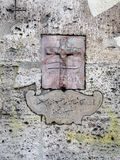 Christian Cross sur la plaque de marbre, Rome, Italie Photographie stock