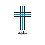 Christian Cross true belief vector religion symbol, Christianity Royalty Free Stock Photos