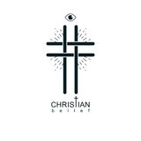 Christian Cross true belief vector religion symbol, Christianity Stock Photo