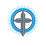 Christian Cross true belief vector religion symbol, Christianity Royalty Free Stock Images