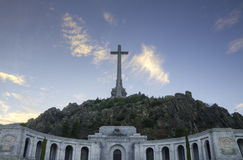 Christian Cross at Valley of the Fallen El Escorial Madrid Spain. Royalty Free Stock Photo