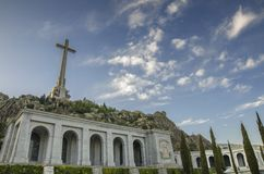 Christian Cross at Valley of the Fallen El Escorial Madrid Spain. Stock Image