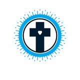 Christian Cross vector symbol, Christianity God religion icon. Creative and conceptual sign Stock Image
