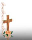 Christian Cross Wedding Invitation  Stock Photo