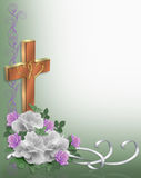 Christian cross Wedding Invitation royalty free illustration
