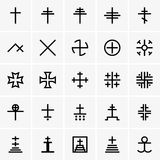Christian crosses. Available in high-resolution and several sizes to fit the needs of your project Stock Photo