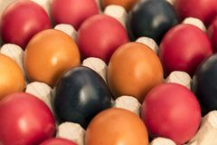 Colors and tradition, Easter Eggs stock images