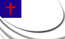 Christian 3D Flag Stock Photo