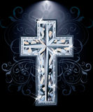 Christian diamonds Cross card, vector Royalty Free Stock Photos