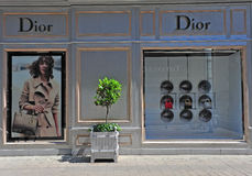 Christian Dior flaggskepplager, Wien, Österrike Fotografering för Bildbyråer