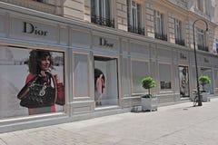 Christian Dior flaggskepplager, Wien, Österrike Arkivbilder