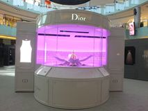 Christian Dior with Le Theatre Dior at Dubai Mall Royalty Free Stock Photos