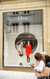 Christian Dior lyxigt lager i Luxembourg Royaltyfria Foton