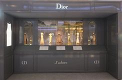 Christian Dior med Le Teater Dior på den Dubai gallerian Arkivfoton