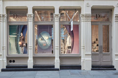 Christian Dior shop exterior in Greene Street, in New York Stock Image
