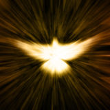 Christian Dove. A glowing image of a Christian dove or holy spirit