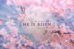 Free Christian Easter Background, Religious Card. Jesus Christ Resurrection Concept. Stock Photography - 133934732