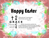Christian easter card with 2019 easter date royalty free stock photos