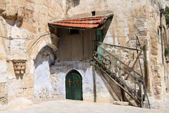 Christian Entrance. Christian Door at the Temple Mound in Jerusalem. Israel Royalty Free Stock Image