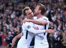 Christian Eriksen and Harry Kane goal celebration