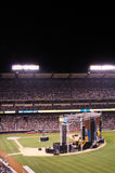 Christian Event. People in the stands during the Harvest Crusade at Angels Stadium listening to Pastor Greg Laurie, of Harvest Christian Fellowship in Riverside Royalty Free Stock Photography