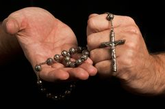 Christian Faith de ofrecimiento Fotos de archivo libres de regalías