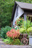 Christian Family home. Small garden on side of the house Stock Photography