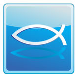 Christian Fish. Blue Christian Fish  illustration Royalty Free Stock Photos