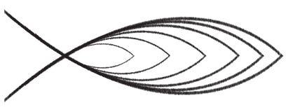 Christian Fish Scribble stock de ilustración