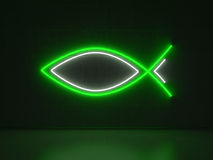 Christian Fish - Series Neon Signs Royalty Free Stock Photos