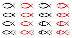 Christian fish. Simple illustration of cchristian fish symbol Stock Photography