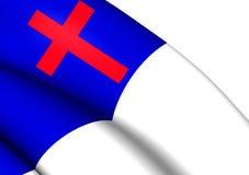 christian flagę Zdjęcie Stock