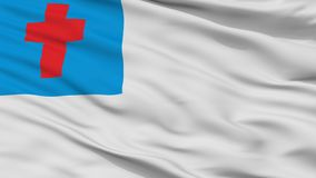 Christian Flag Closeup View illustration libre de droits