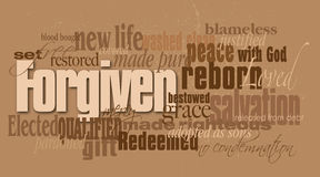 Christian forgiven word montage Royalty Free Stock Images