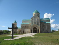 Christian Georgia. Majestic temple Bagrati. Georgia. Kutaisi Royalty Free Stock Image