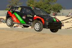 Christian GIAROLO Ford Focus Κόσμος Rallycross FIA της Βαρκελώνης Στοκ φωτογραφίες με δικαίωμα ελεύθερης χρήσης