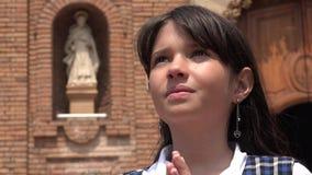 Christian Girl Praying joven foto de archivo libre de regalías