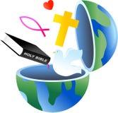 Christian globe vector illustration