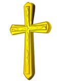Christian gold cross Stock Photo