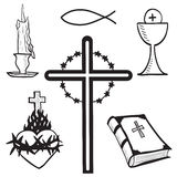 Christian hand-drawn symbols illustration Stock Photos