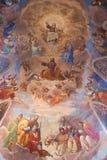 Christian Heaven-Malerei an der Basilika des Heiligen Mary Major Lizenzfreies Stockbild