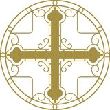 Christian Holy cross. With ornament Stock Photos