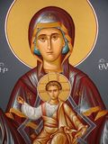 Christian icon. Wall painting in greece church Stock Photography