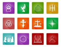 Christian Icon Set. A set of Christian religious icons and symbols Stock Photos