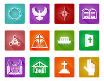 Christian Icon Set Royalty Free Stock Photography